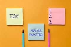 Conceptuele hand die tonend Analyse Marketing schrijven Bedrijfsfoto die Kwantitatieve en kwalitatieve beoordeling demonstreren v royalty-vrije stock foto's
