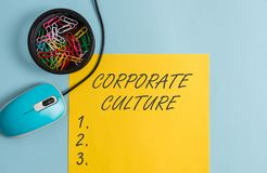 Conceptuele hand die tonend Collectieve Cultuur schrijven De de doordringende waarden en houdingen van de bedrijfsfototekst die k royalty-vrije stock afbeelding