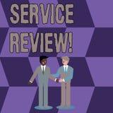 Conceptuele hand die tonend de Dienstoverzicht schrijven De bedrijfsfoto die een optie voor klanten demonstreert om een bedrijf s royalty-vrije illustratie