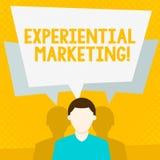 Conceptuele hand die tonend Ervarings Marketing schrijven Bedrijfsfoto demonstratie marketing strategie die direct stock illustratie