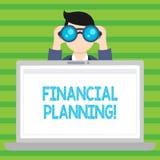 Conceptuele hand die tonend Financiële Planning schrijven De Boekhouding van de bedrijfsfototekst de Planningsstrategie analyseer stock illustratie