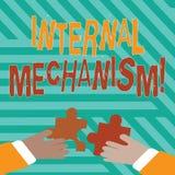 Conceptuele hand die tonend Intern Mechanisme schrijven Bedrijfsfototekst de belangrijkste reeksen controles voor een bedrijf stock afbeeldingen