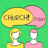 Conceptuele hand die tonend Kerk schrijven Van het de Kathedraalaltaar van de bedrijfsfototekst van de de Torenkapel het Heiligdo vector illustratie