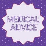 Conceptuele hand die tonend Medisch advies schrijven  stock illustratie