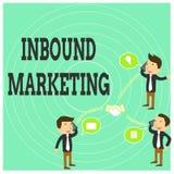 Conceptuele hand die tonend naderend Marketing schrijven Het Proces van de bedrijfsfototekst om de aandacht van klanten aan te tr stock illustratie