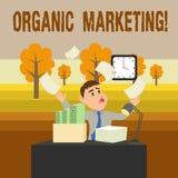 Conceptuele hand die tonend Organische Marketing schrijven Bedrijfsfoto die ertoe brengend uw klanten om aan u te komen demonstre stock illustratie