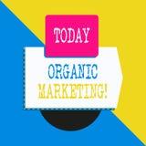Conceptuele hand die tonend Organische Marketing schrijven Bedrijfsfototekst die uw klanten ertoe brengen om aan u natuurlijk te  stock illustratie