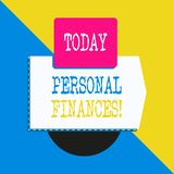 Conceptuele hand die tonend Persoonlijke Financi?n schrijven Bedrijfsfototekst de activiteit van het analysisaging van eigen geld vector illustratie
