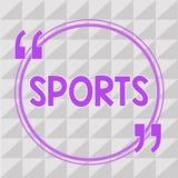 Conceptuele hand die tonend Sporten schrijven Concurreren de fysieke inspanning van de bedrijfsfoto demonstratieactiviteit en het vector illustratie