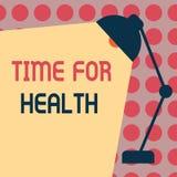 Conceptuele hand die tonend Tijd voor Gezondheid schrijven Bedrijfsfototekst die iemand aanmoedigen beginnen gezonde food do spor Vector Illustratie