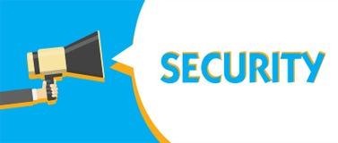 Conceptuele hand die tonend Veiligheid schrijven Bedrijfsfototekst de staat van het voelen van veilige stabiel en vrij van vrees  vector illustratie
