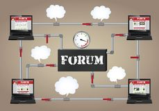 Conceptuele illustratie: Forum. Stock Foto's