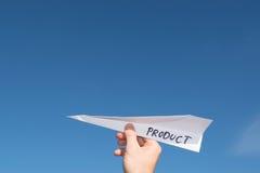 Conceptuele illustratie van de lancering van een nieuw product Royalty-vrije Stock Foto's
