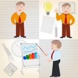 Conceptuele illustratie van een bedrijfsidee van aanvang aan IMP Stock Afbeelding