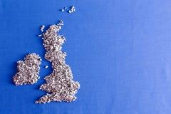 Conceptuele kaart van het Verenigd Koninkrijk Stock Foto's