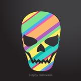 Conceptuele menselijke schedel Vector illustratie Royalty-vrije Stock Foto's