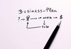 Conceptuele regeling voor een bedrijfsstrategie Stock Foto's
