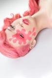 Conceptuele roze schoonheid photoshot stock afbeeldingen