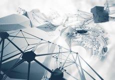 Conceptuele technologieachtergrond stock illustratie