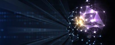 Conceptuele technologieillustratie van kunstmatige intelligentie Abstracte Futuristische Achtergrond vector illustratie