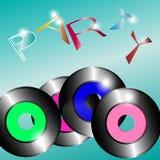 Conceptuele uitnodiging voor discopartij vector illustratie