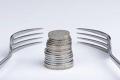 Conceptuele verbeelding van financiële hebzucht stock fotografie