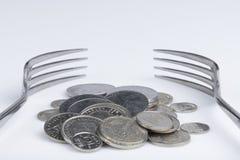 Conceptuele verbeelding van financiële hebzucht stock afbeeldingen