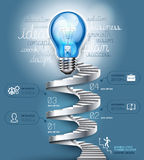 Conceptuele zaken lightbulb. Royalty-vrije Stock Afbeeldingen