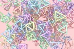 Concepture геометрическое, пук треугольника или квадрат, летание, блокировать для текстуры дизайна, предпосылка E бесплатная иллюстрация
