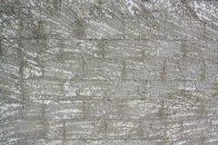 Concerete bloku ściany tło z odpryśnięciem Obrazy Royalty Free