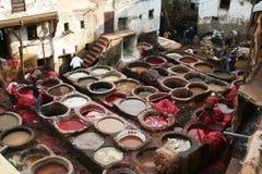 Conceria del Marocco Immagini Stock Libere da Diritti