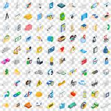 100 concern icons set, isometric 3d style Royalty Free Stock Photography