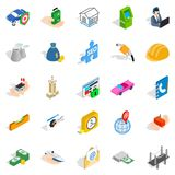 Concern icons set, isometric style. Concern icons set. Isometric set of 25 concern vector icons for web isolated on white background Royalty Free Stock Image