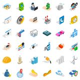 Concern icons set, isometric style Stock Images