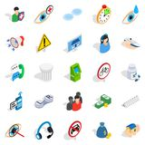 Concern icons set, isometric style. Concern icons set. Isometric set of 25 concern vector icons for web isolated on white background Stock Photography