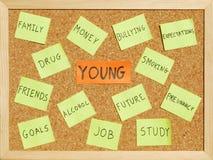 concerne des jeunes Photos stock
