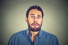 Concerned惊吓了人 免版税图库摄影
