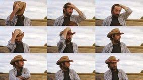 Concerned фермер планируя новый осеменяя сезон стоковое изображение