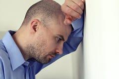 Concerned человек Стоковое Изображение RF