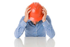 Concerned architect. About a difficult project Stock Photography