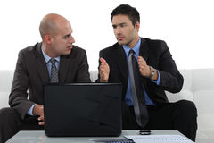Concerned business associates Royalty Free Stock Images