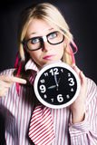 Punctual Woman Late For Time Schedule Deadline Royalty Free Stock Image
