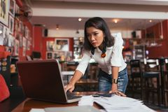 Concerned business woman Stock Photography