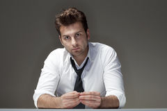 Concerned Businessman Stock Photography