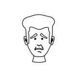 Concerned cartoon face Royalty Free Stock Photos