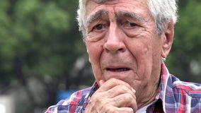 Concerned And Fearful Old Man. Stock video of concerned and fearful old man stock video