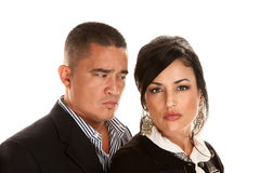 Concerned Hispanic Couple Stock Image