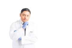 Concerned Hispanic Male Healthcare Professional Royalty Free Stock Photo
