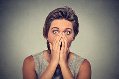 Concerned scared woman Royalty Free Stock Photography
