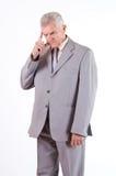 Concerned senior businessman Stock Photos